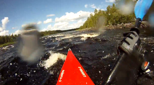 Whitewater kayaking in russian Karelia