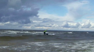 2 minutes kitesurfing in Baltic sea