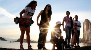 Yes, girls can skateboard