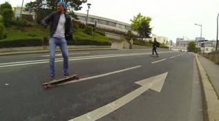 Longboarding in Paris
