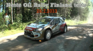 Neste Oil Rally Finland 2013 tests